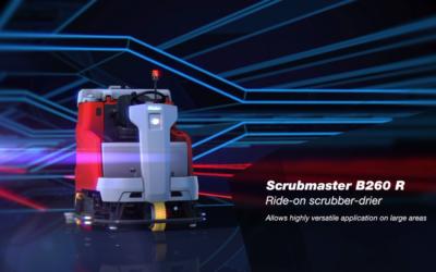 Den nye Scrubmaster B260R Ride-on gulvvasker